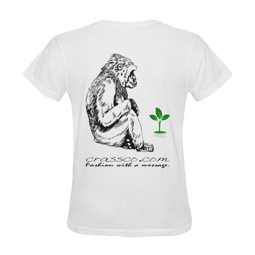 GORILLA PLANT MESSAGE Sunny Women's T-shirt (Model T05)