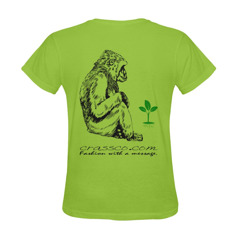 GORILLA PLANT MESSAGE IV Sunny Women's T-shirt (Model T05)