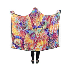 Gorgeous floral A by Jamcolors Hooded Blanket 50''x40''