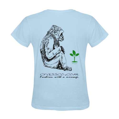 GORILLA PLANT MESSAGE II Sunny Women's T-shirt (Model T05)