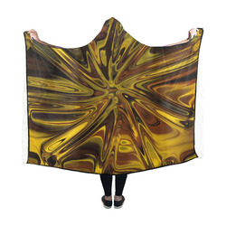 new fractal 717E by JamColors Hooded Blanket 60''x50''