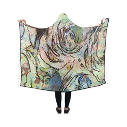 Floral Art Studio 6216A Hooded Blanket 50''x40''
