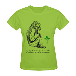 GORILLA PLANT MESSAGE IV Sunny Women's T-shirt (Model T05)