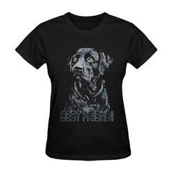 LABRADOR DOG BEST FRIEND III Sunny Women's T-shirt (Model T05)