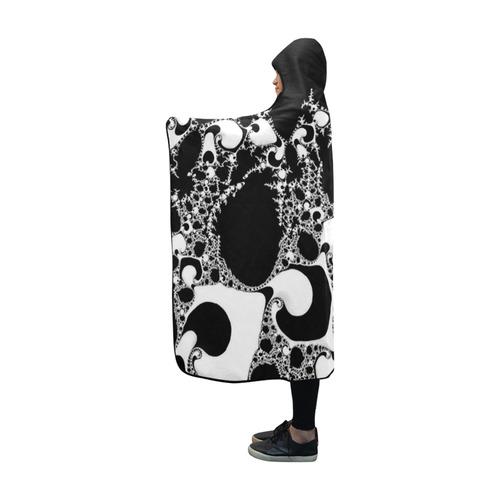 special fractal 04 B&W Hooded Blanket 60''x50''
