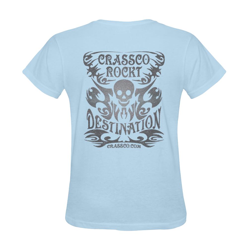 SKULL DESTINATION FUX VI Sunny Women's T-shirt (Model T05)