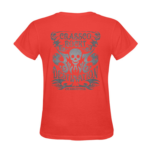 SKULL DESTINATION FUX III Sunny Women's T-shirt (Model T05)