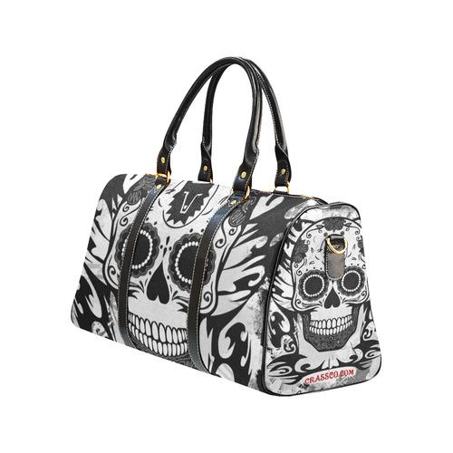 SKULL TRIBAL CULT BLACK AND WHITE New Waterproof Travel Bag/Small (Model 1639)