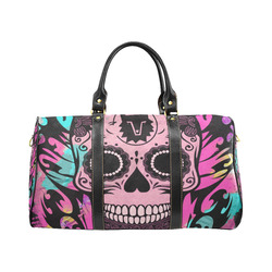 SKULL TRIBAL CULT PINK New Waterproof Travel Bag/Small (Model 1639)