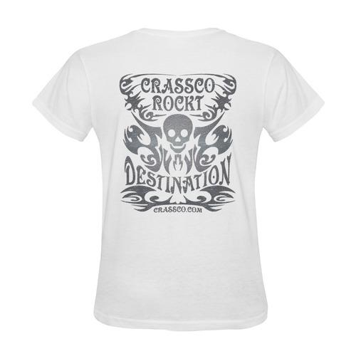 SKULL CRASSCO ROCKT DESTINATION IV Sunny Women's T-shirt (Model T05)