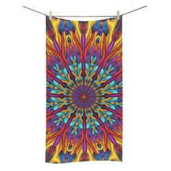 """Amazing colors fractal mandala Bath Towel 30""""x56"""""""