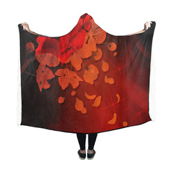 cherry blossom Hooded Blanket 60''x50''