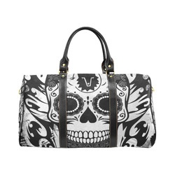 SKULL TRIBAL CULT BLACK AND WHITE New Waterproof Travel Bag/Small (Model 1639)