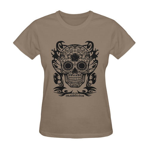 SKULL DESTINATION FUX VIII Sunny Women's T-shirt (Model T05)