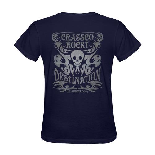 SKULL CRASSCO ROCKT DESTINATION Sunny Women's T-shirt (Model T05)