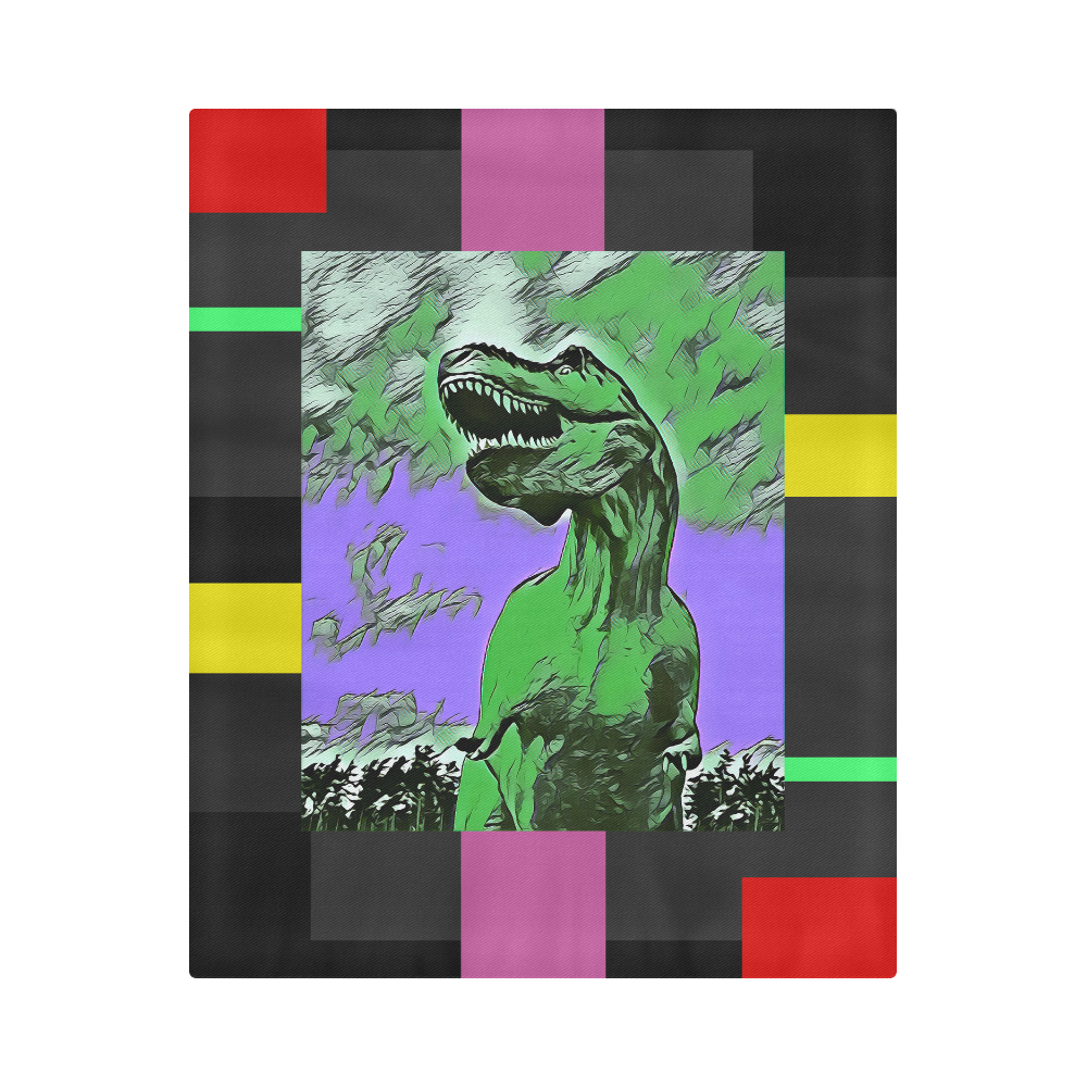 "DINO ART ABRACT LINE Duvet Cover 86""x70"" ( All-over-print)"