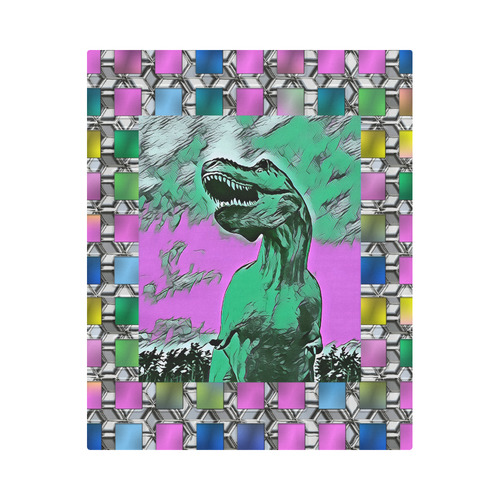 "DINO SQUARE ABSTRACT V Duvet Cover 86""x70"" ( All-over-print)"