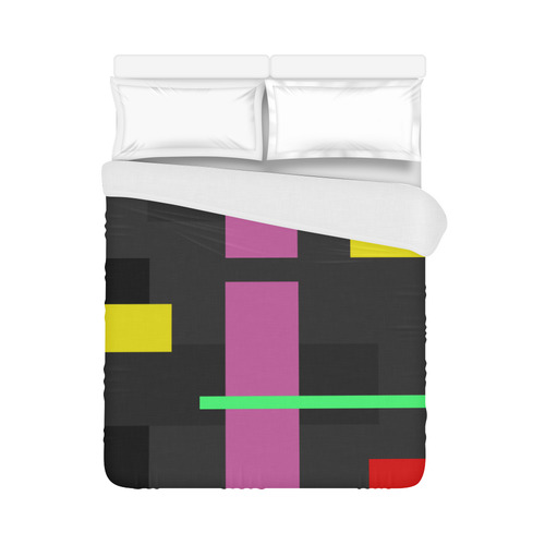 "ABSTRACT LINE ART Duvet Cover 86""x70"" ( All-over-print)"