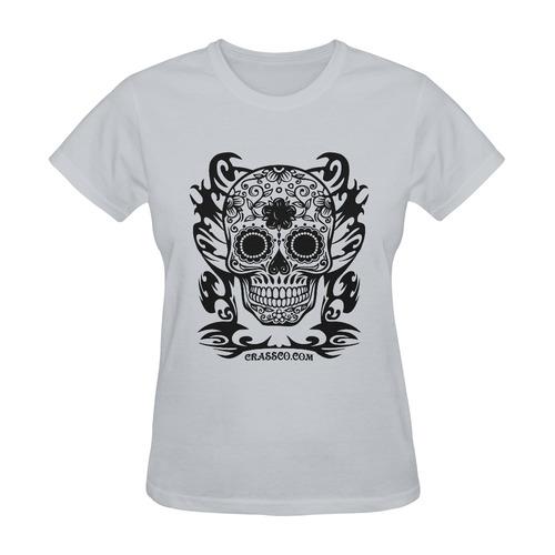 SKULL DESTINATION FUX VII Sunny Women's T-shirt (Model T05)