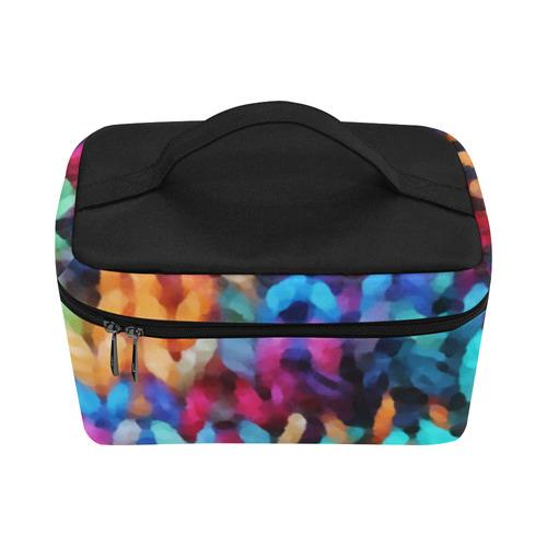 Chunky Rainbow Cosmetic Bag/Large (Model 1658)