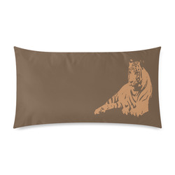 """SLEEPING TIGER Rectangle Pillow Case 20""""x36""""(Twin Sides)"""