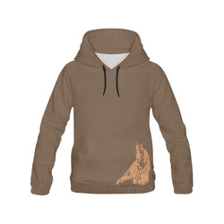 SLEEPING TIGER All Over Print Hoodie for Men (USA Size) (Model H13)