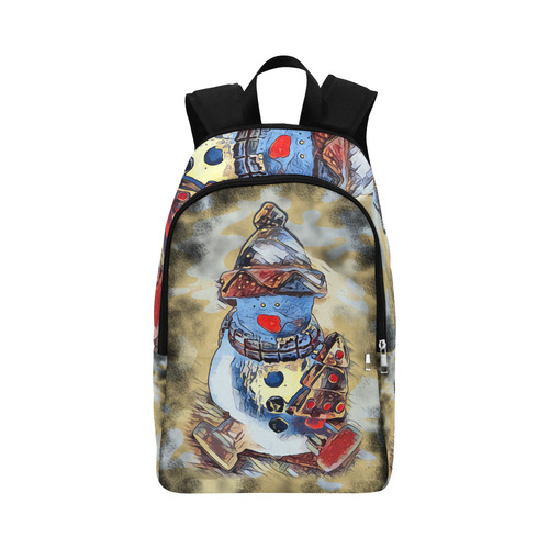 SNOWMAN CHRISTMAS Fabric Backpack for Adult (Model 1659)