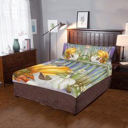 Adorable Children's Story Pumpkin Patch 3-Piece Bedding Set