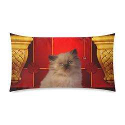 "Cute little kitten Rectangle Pillow Case 20""x36""(Twin Sides)"