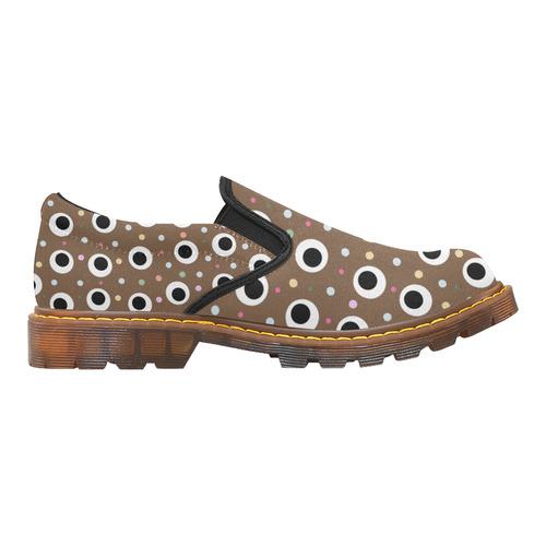 POINTS ON BROWN Martin Women's Slip-On Loafer (Model 12031)