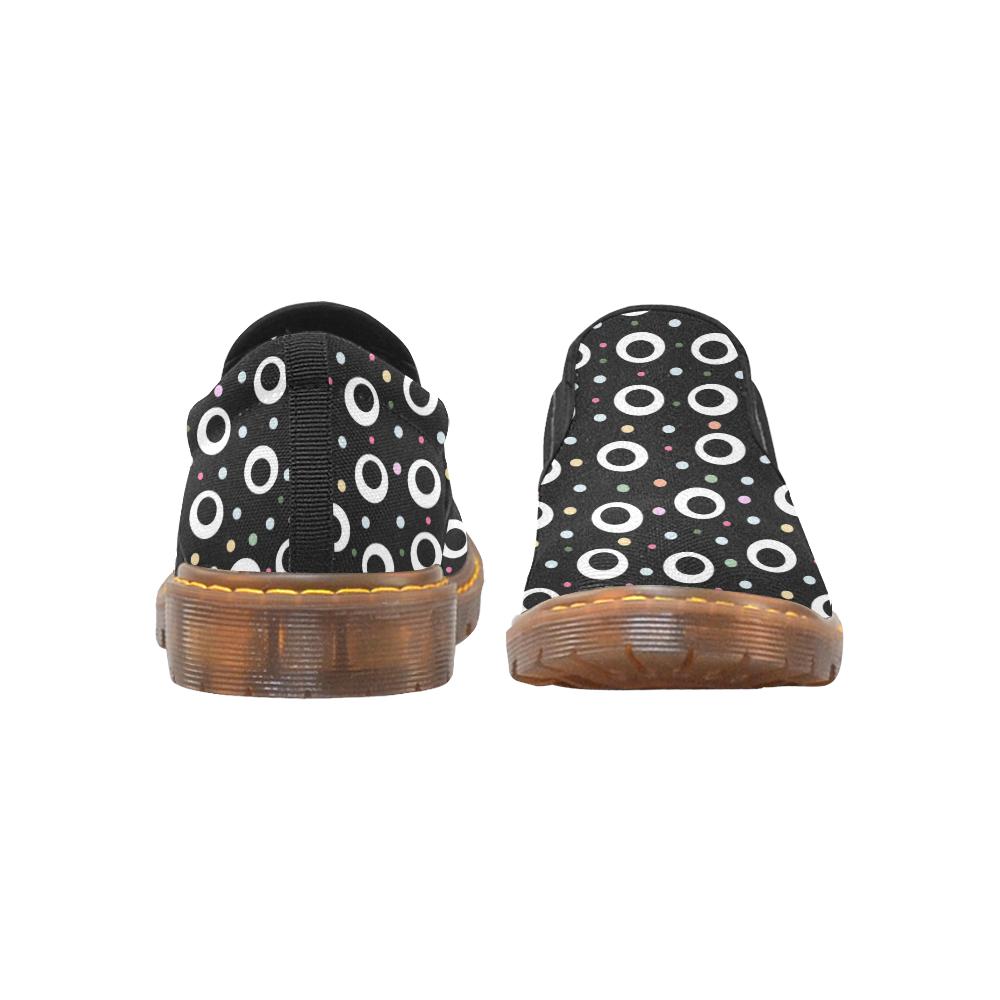 POINTS ON BLACK Martin Women's Slip-On Loafer (Model 12031)