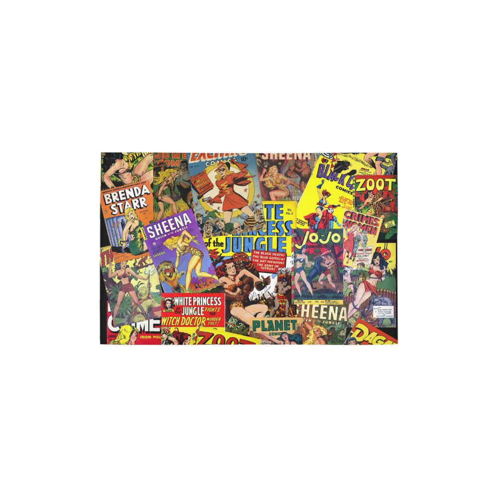 "Vintage Comic Collage Area Rug 2'7""x 1'8''"