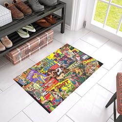 """Vintage Comic Collage Azalea Doormat 24"""" x 16"""" (Sponge Material)"""