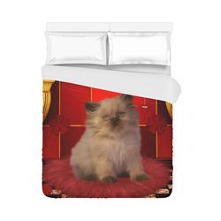 """Cute little kitten Duvet Cover 86""""x70"""" ( All-over-print)"""