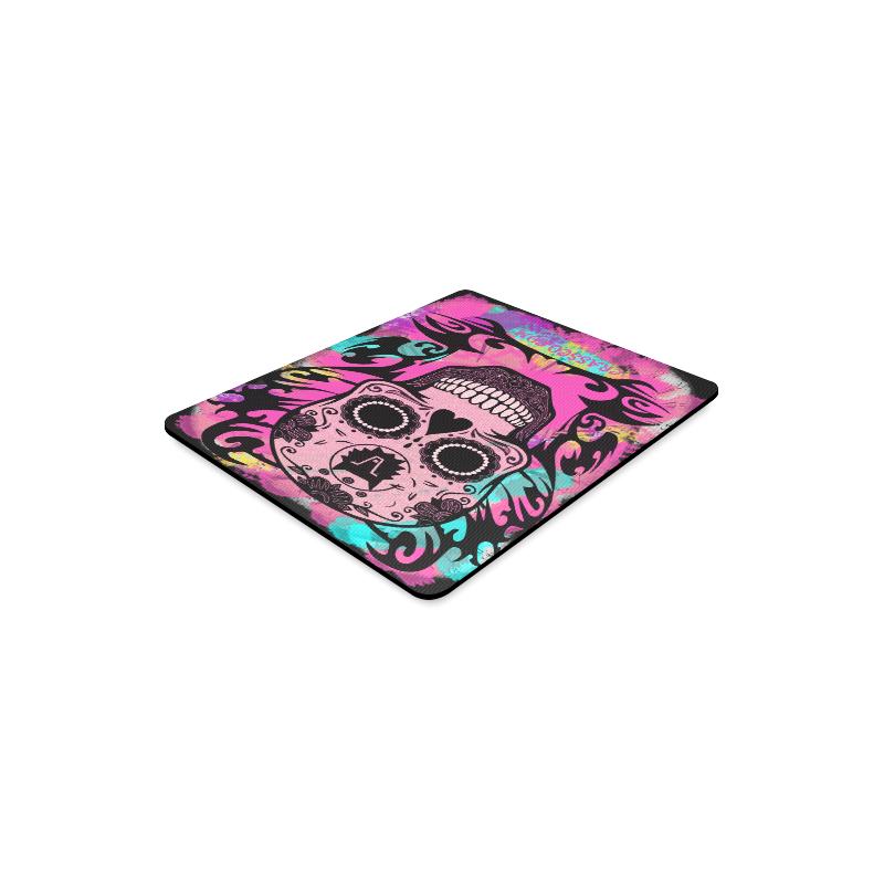 SKULL CRASSCO PINK MOUSEPAD Rectangle Mousepad