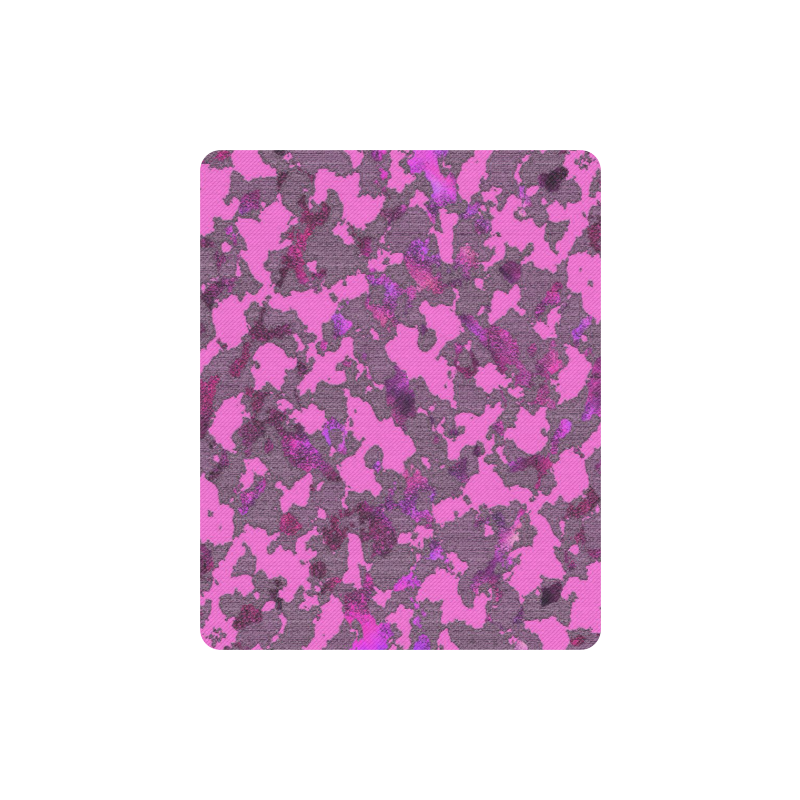 CAMOUFLAGE GIRLY PINK MOUSEPAD Rectangle Mousepad