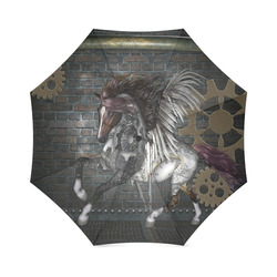 Steampunk, awesome steampunk horse with wings Foldable Umbrella (Model U01)