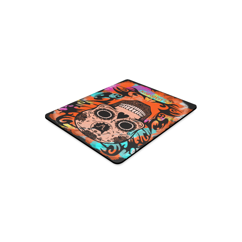 SKULL CRASSCO ORANGE MOUSEPAD Rectangle Mousepad
