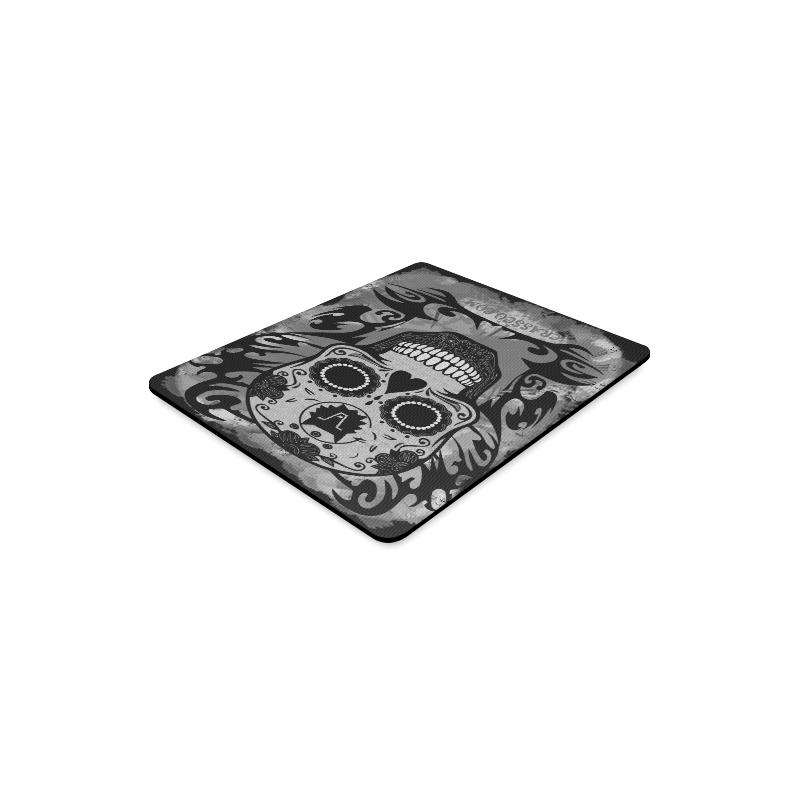 SKULL CRASSCO GREY MOUSEPAD Rectangle Mousepad