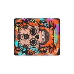 SKULL CRASSCO ORANGE MOUSEPAD Rectangle Mousepad