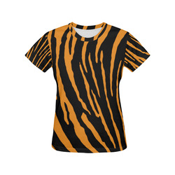 Tiger Stripes All Over Print T-Shirt for Women (USA Size) (Model T40)