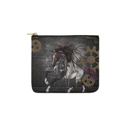 Steampunk, awesome steampunk horse with wings Carry-All Pouch 6''x5''