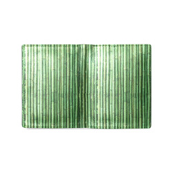 Mens Wallet Leather Credit Card Wallet Green Bamboo Men's Leather Wallet (Model 1612)