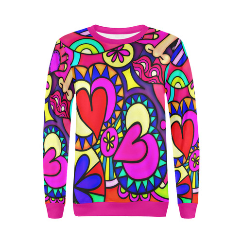 Looking for Love All Over Print Crewneck Sweatshirt for Women (Model H18)