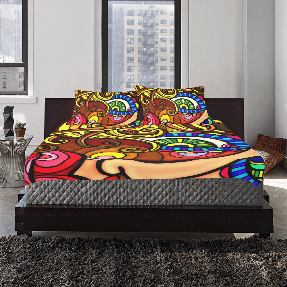 Let's Face it Together 3-Piece Bedding Set