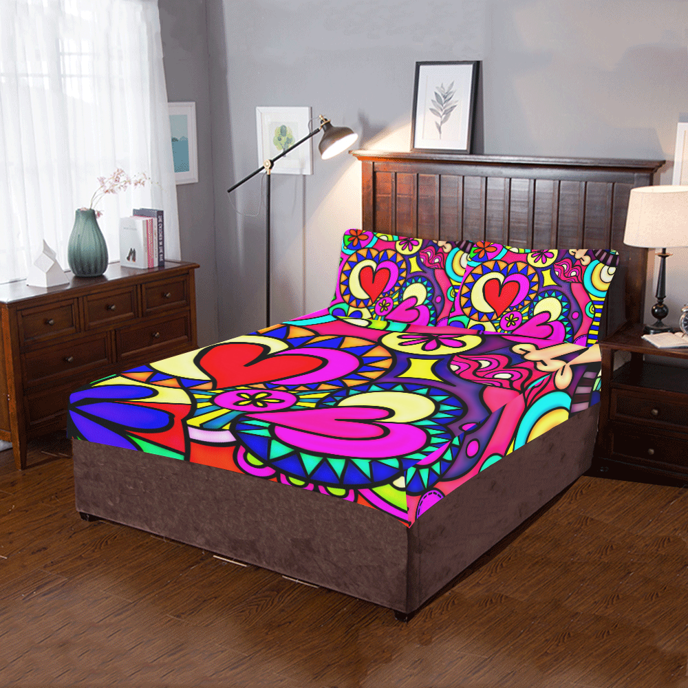 Looking for Love 3-Piece Bedding Set
