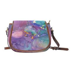PSYCHeDELIC FLATULENCE Saddle Bag/Small (Model 1649) Full Customization