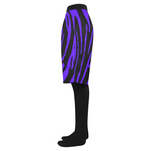 Blue Tiger Stripes Men's Swim Trunk (Model L21)