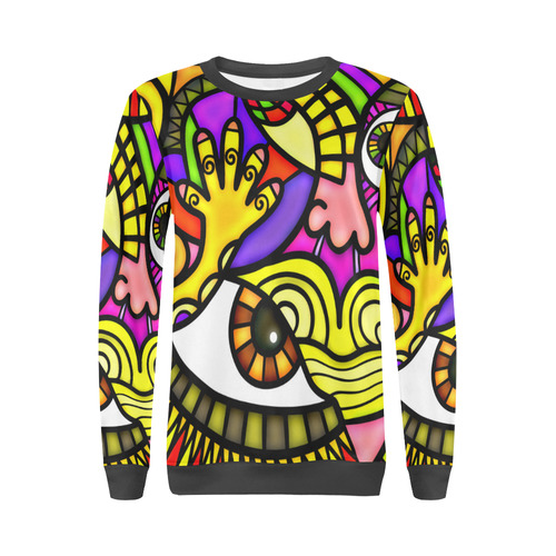 Lonely Without You All Over Print Crewneck Sweatshirt for Women (Model H18)