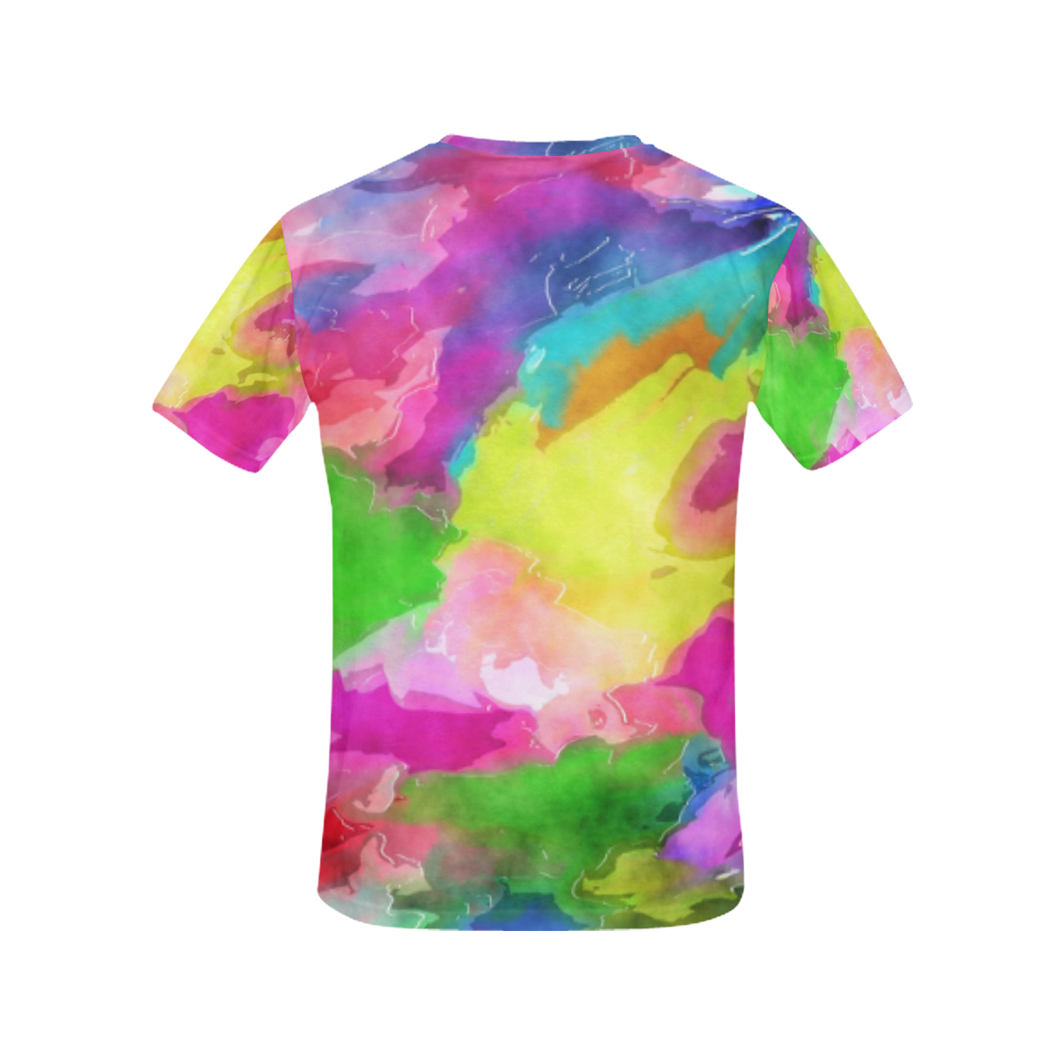 Vibrant Watercolor Ink Blend All Over Print T-Shirt for Women (USA Size) (Model T40)